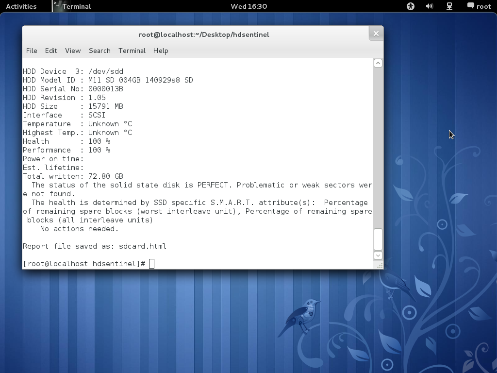Hard Disk Sentinel - Free Linux version