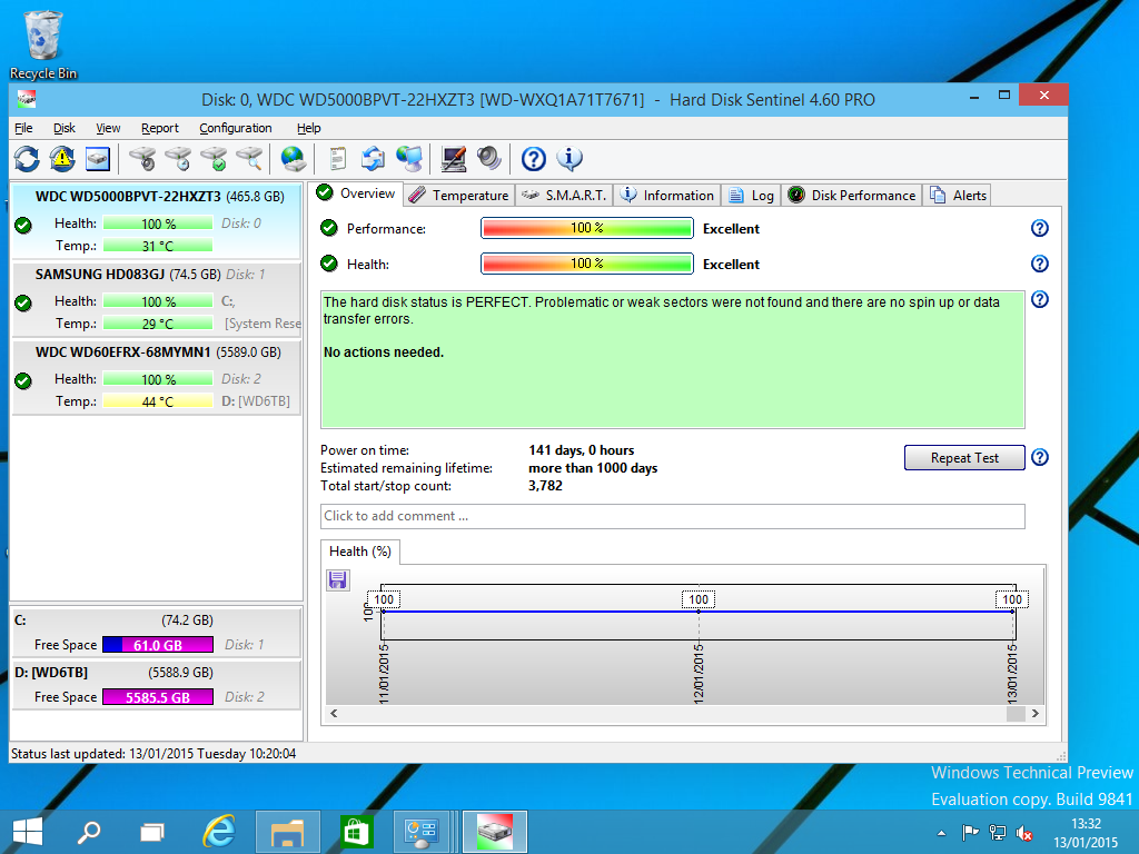 Click to view Hard Disk Sentinel screenshots