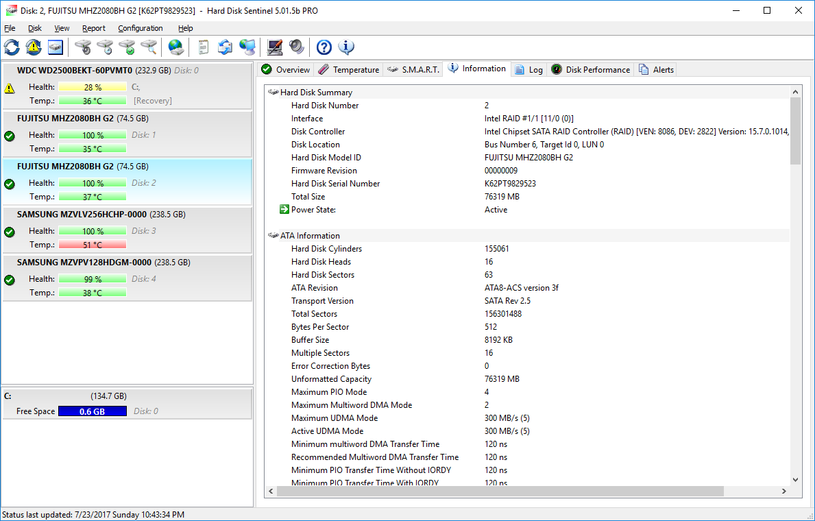 HDS doesn't detect SMART info after update to Intel RST 15 7