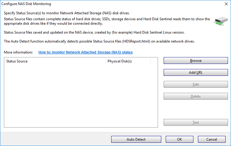 How to: monitor Network Attached Storage (NAS) status